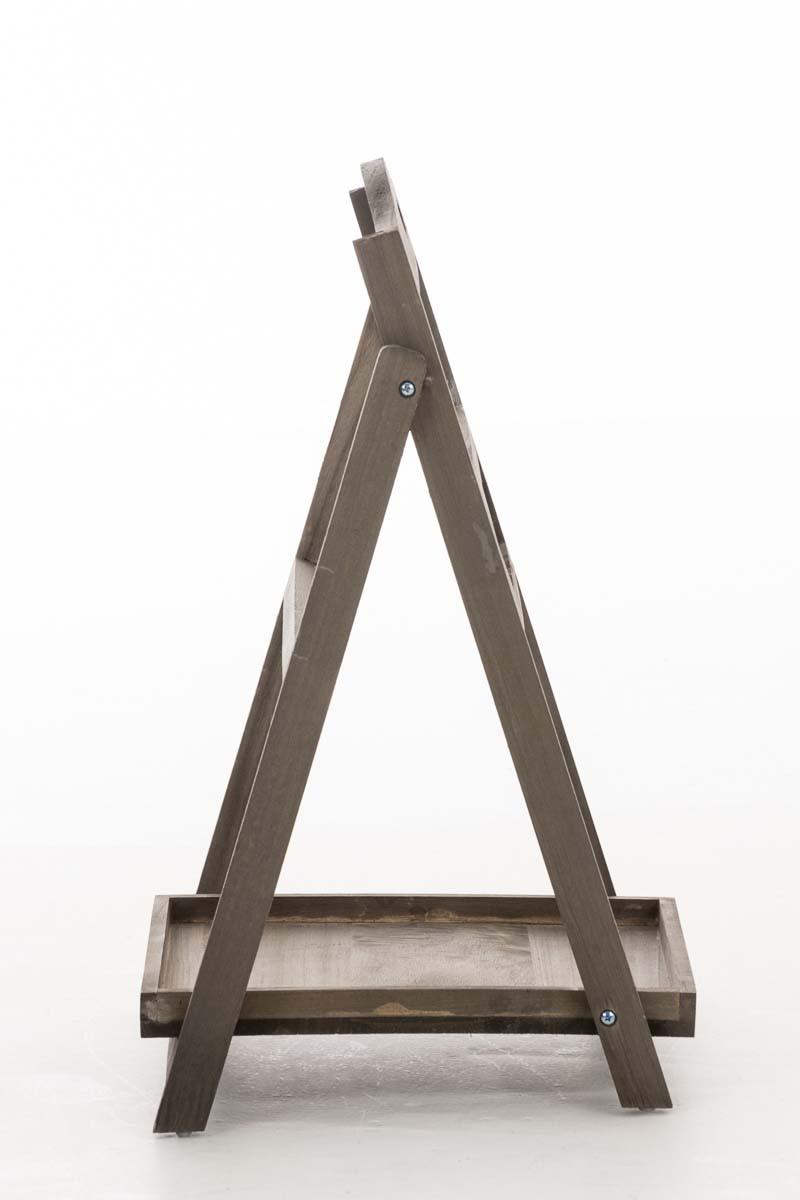Dekorativní regál s tabulí Karma, 65 cm, hnědá