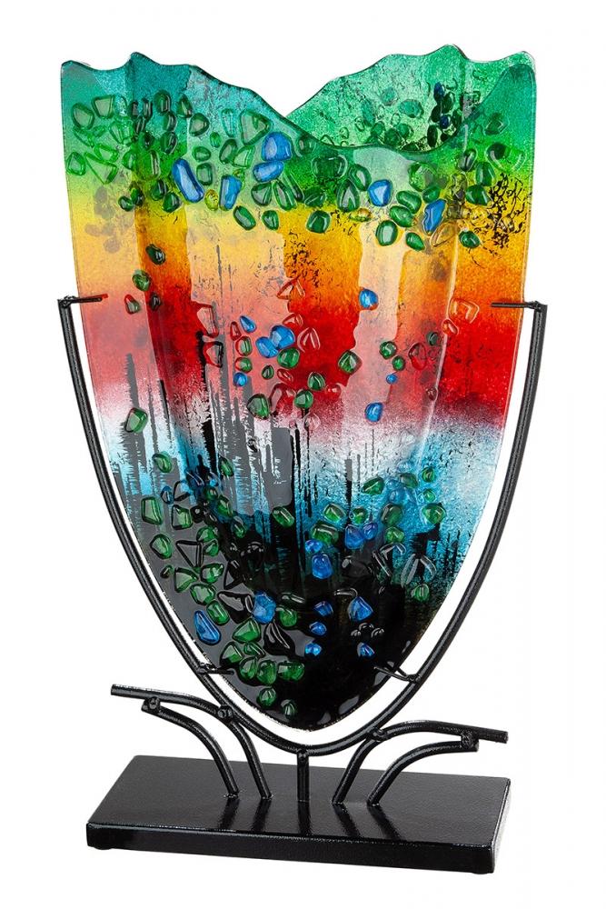 Dekorativní váza Rain, vícebarevná