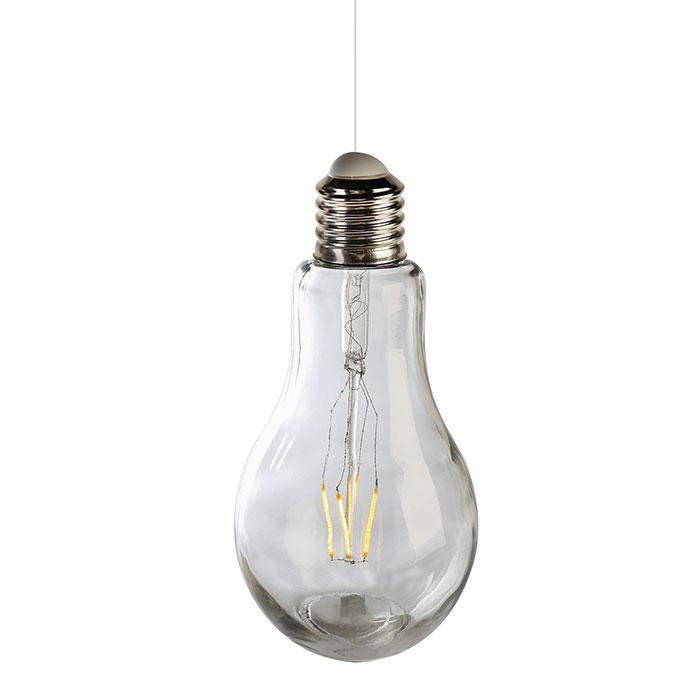 Dekorativní závěsná lampa Filaments, 18 cm, čirá