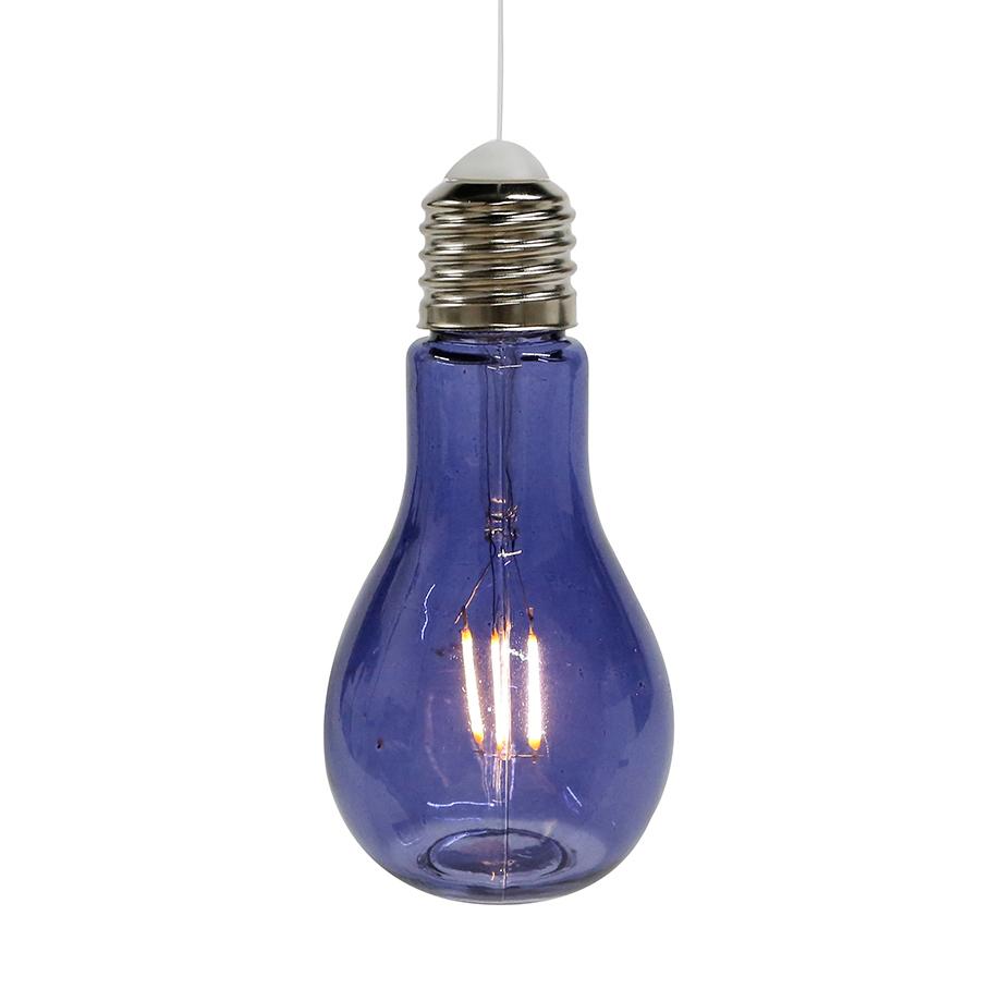Dekorativní závěsná lampa Filaments, 18 cm, modrá