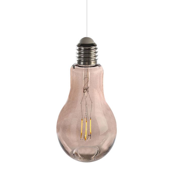 Dekorativní závěsná lampa Filaments, 18 cm, šedá