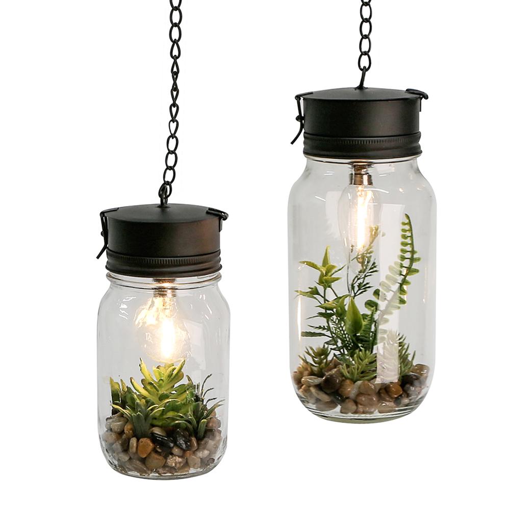Dekorativní závěsná lampa Plant, 24 cm
