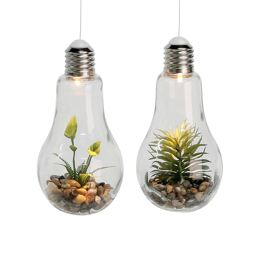Dekorativní závěsná lampa Žárovka, 18 cm, sada 2 ks