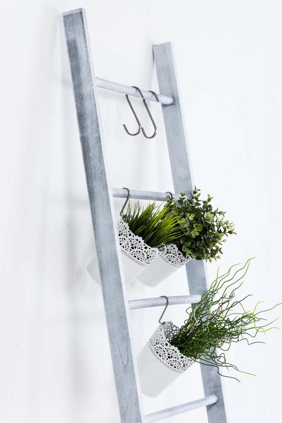 Dekorativní žebřík Mariana, 145,5 cm, šedá