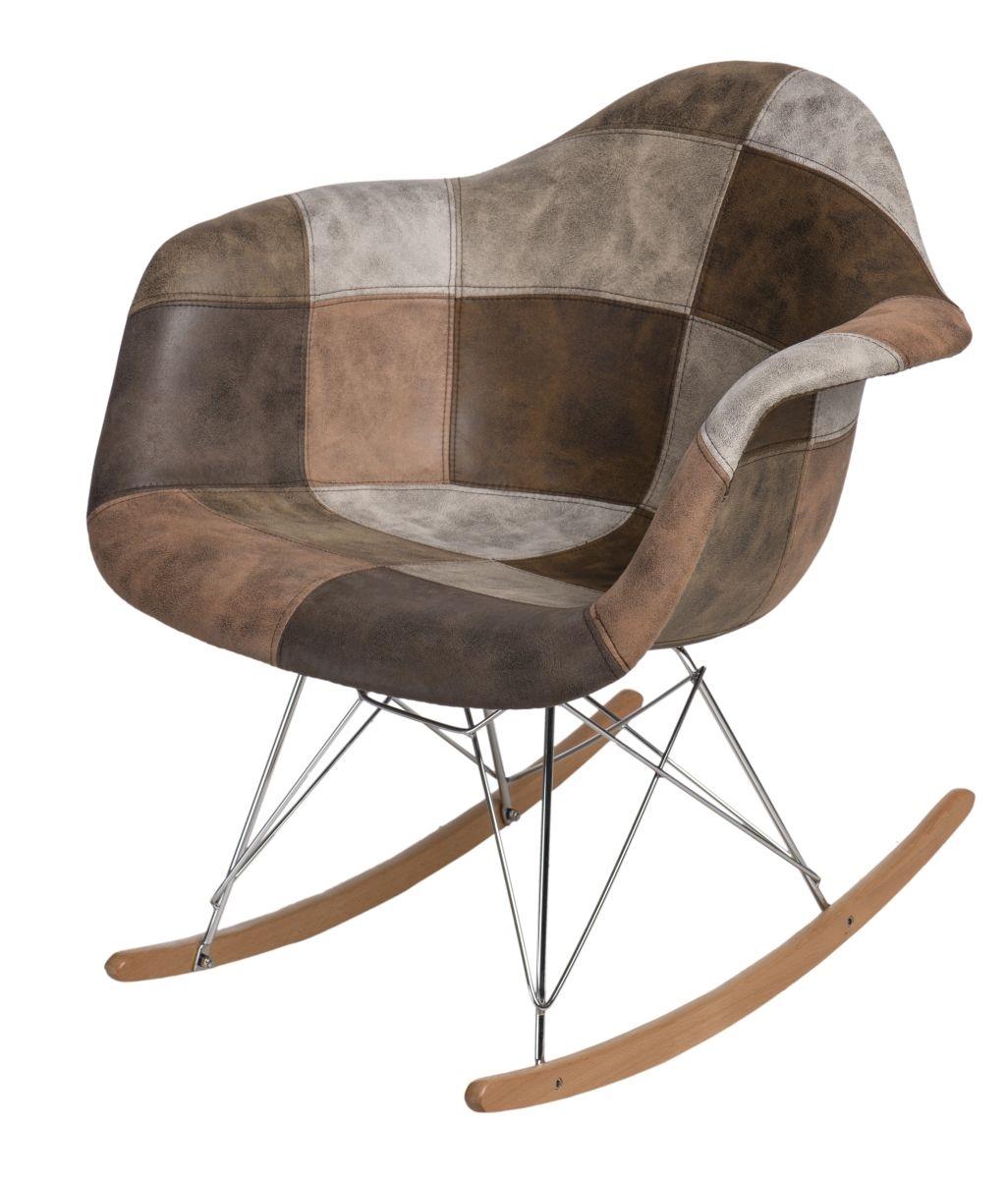 Designové houpací křeslo Blom, patchwork