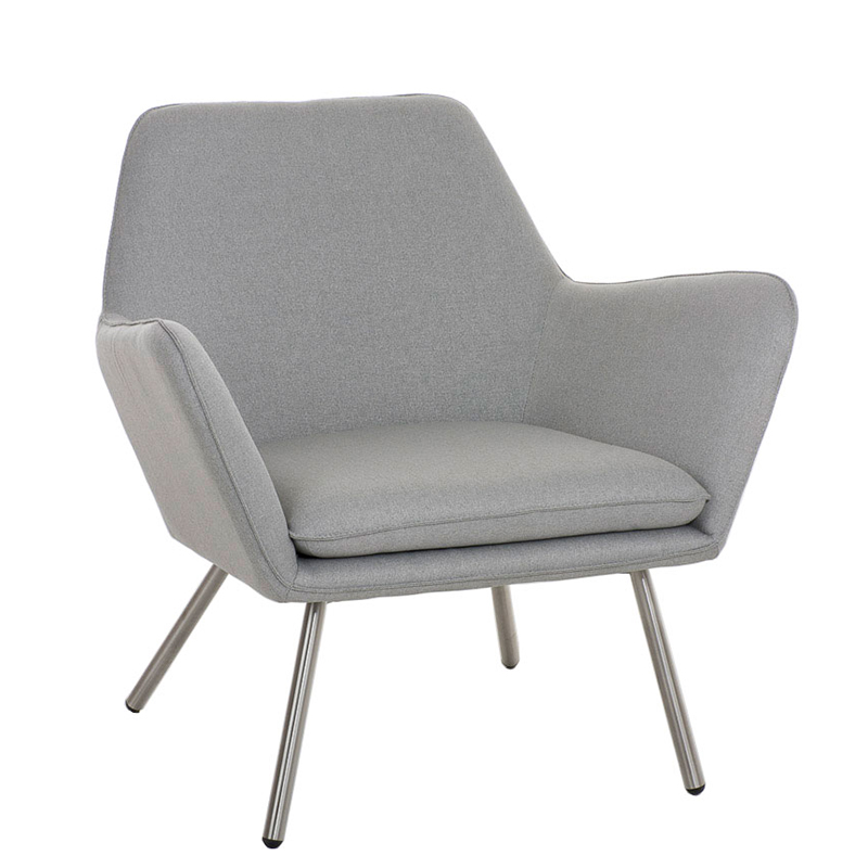 Designové křeslo Carcas šedá
