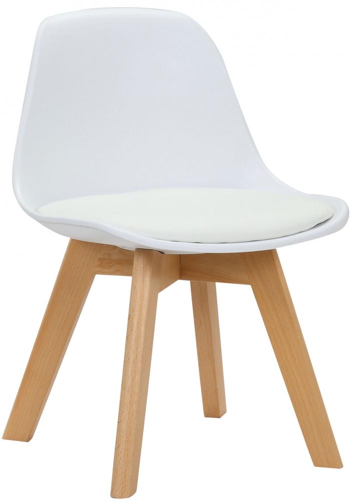Dětská jídelní židle Lindi, bílá