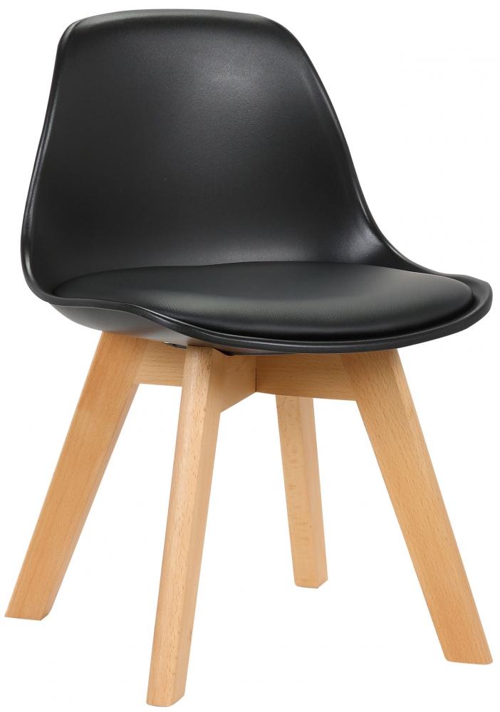 Dětská jídelní židle Lindi, černá