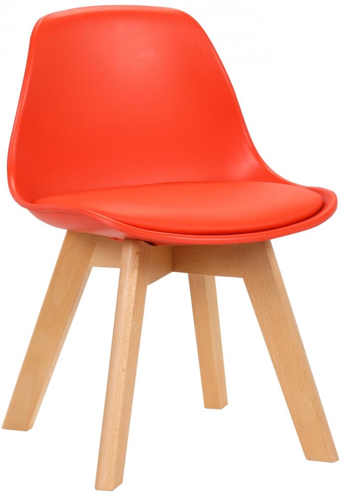 Dětská jídelní židle Lindi, červená