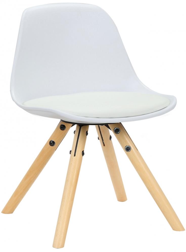 Dětská jídelní židle Nakoni, bílá