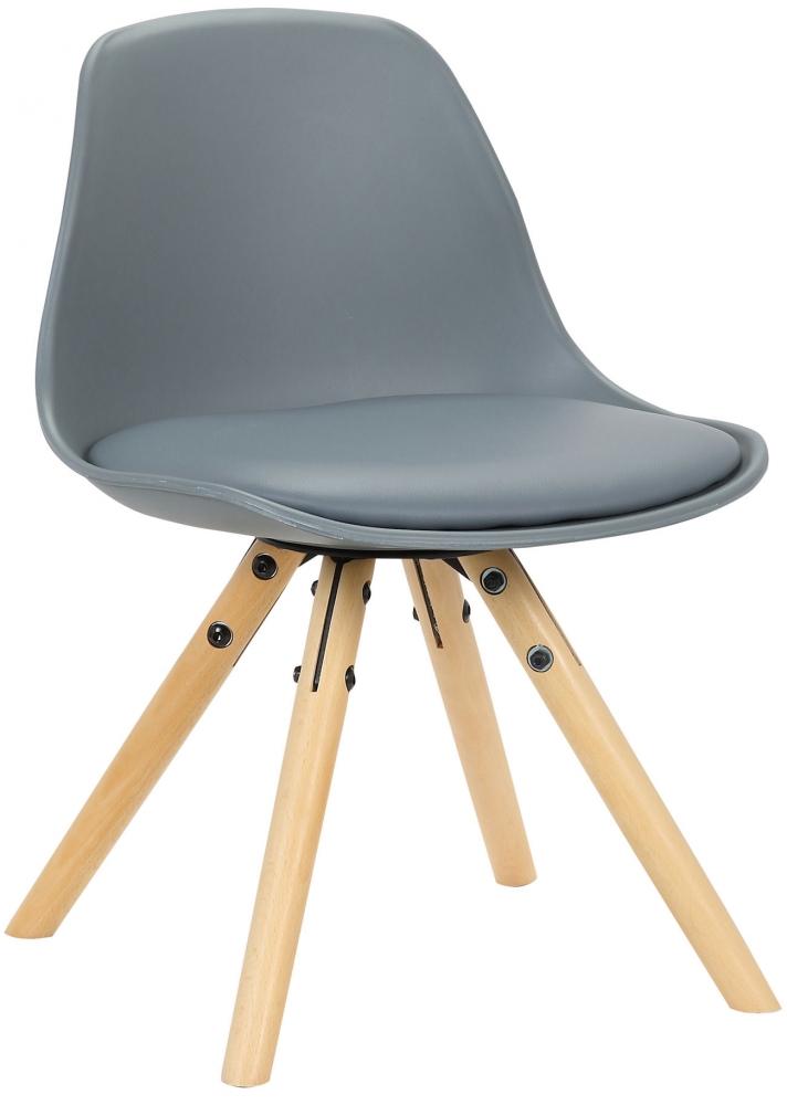 Dětská jídelní židle Nakoni, šedá