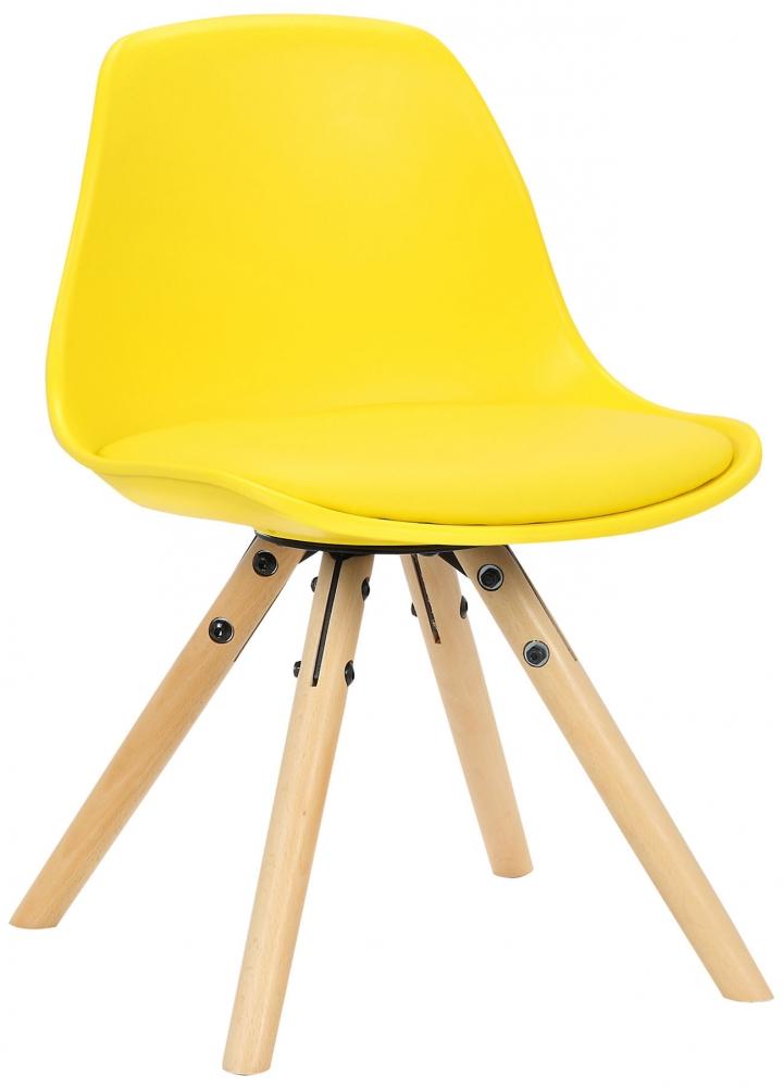Dětská jídelní židle Nakoni, žlutá