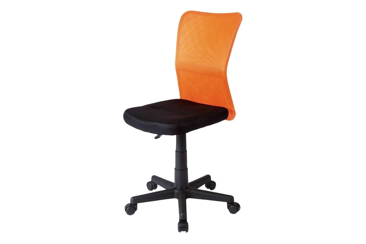 Dětská kancelářská židle Anna, černá/oranžová