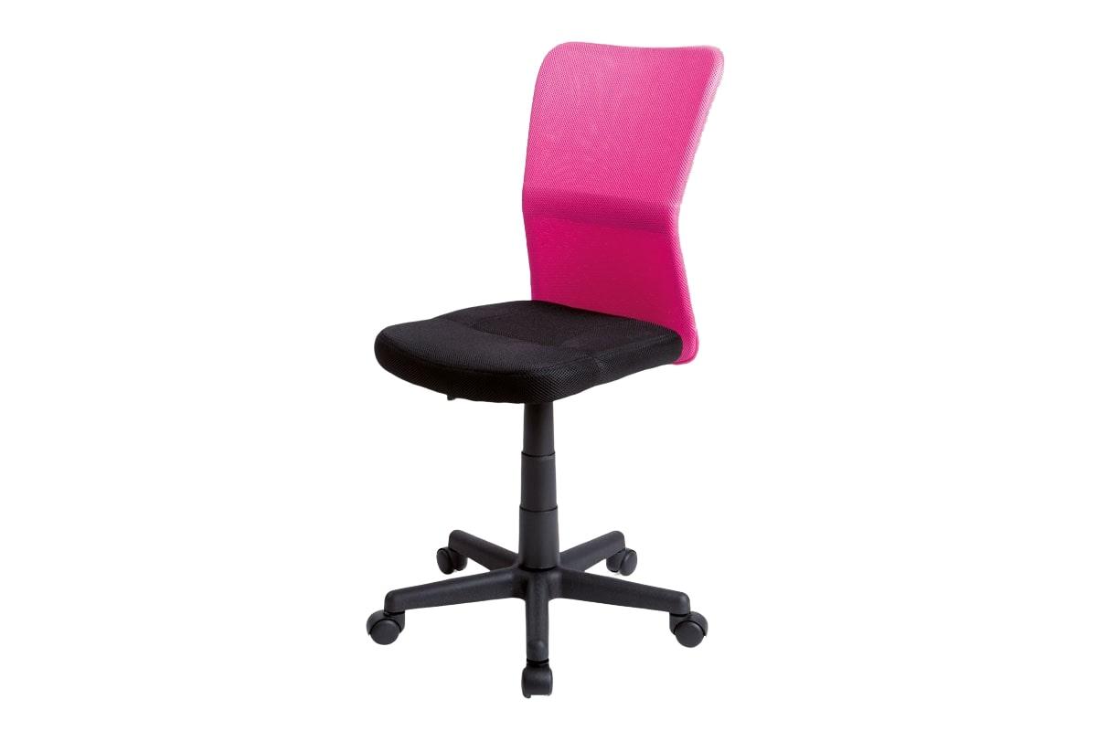 Dětská kancelářská židle Anna, černá/růžová