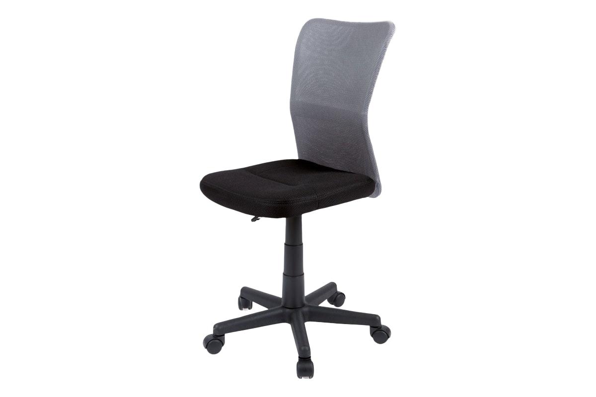 Dětská kancelářská židle Anna, černá/šedá