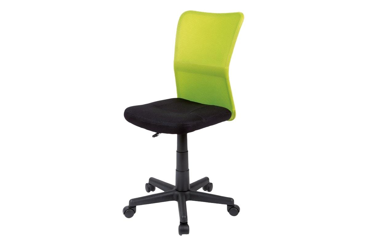 Dětská kancelářská židle Anna, černá/zelená