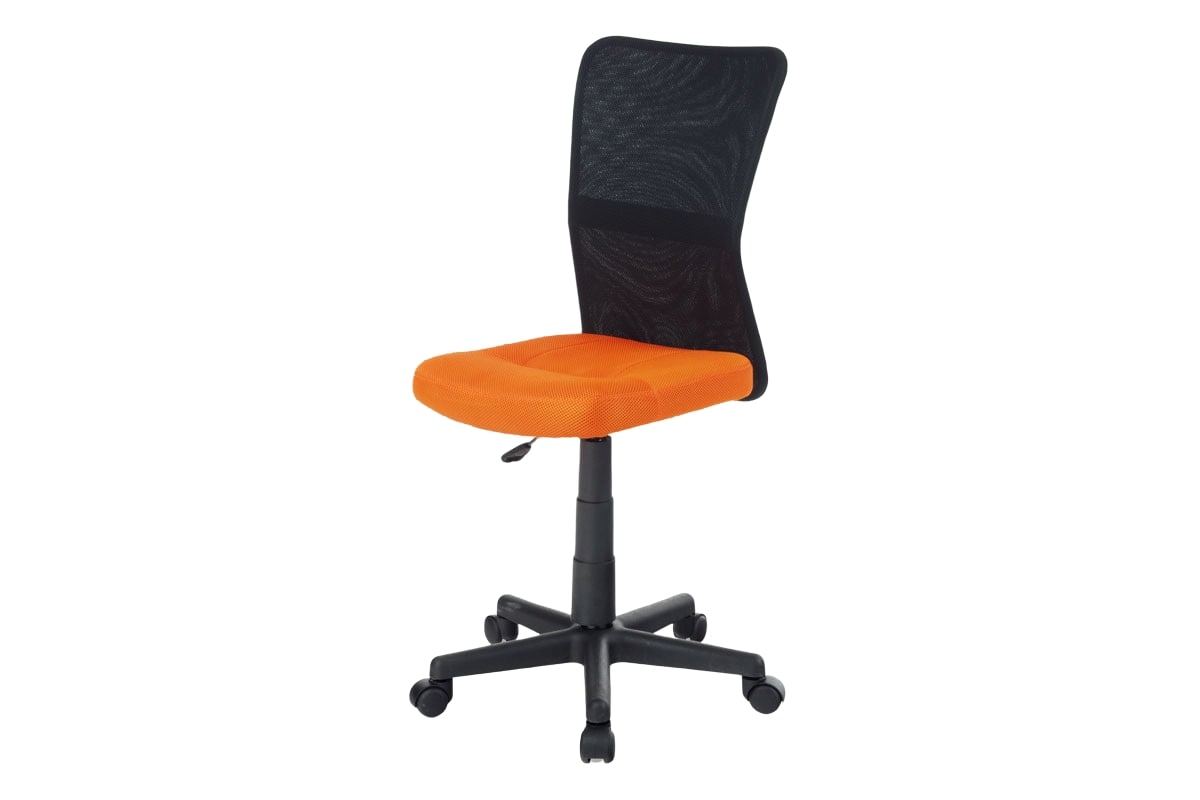 Dětská kancelářská židle Rufin, oranžová/černá