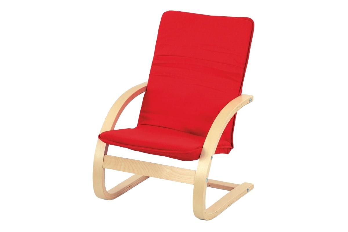 Dětské relaxační křeslo Alanis, červená