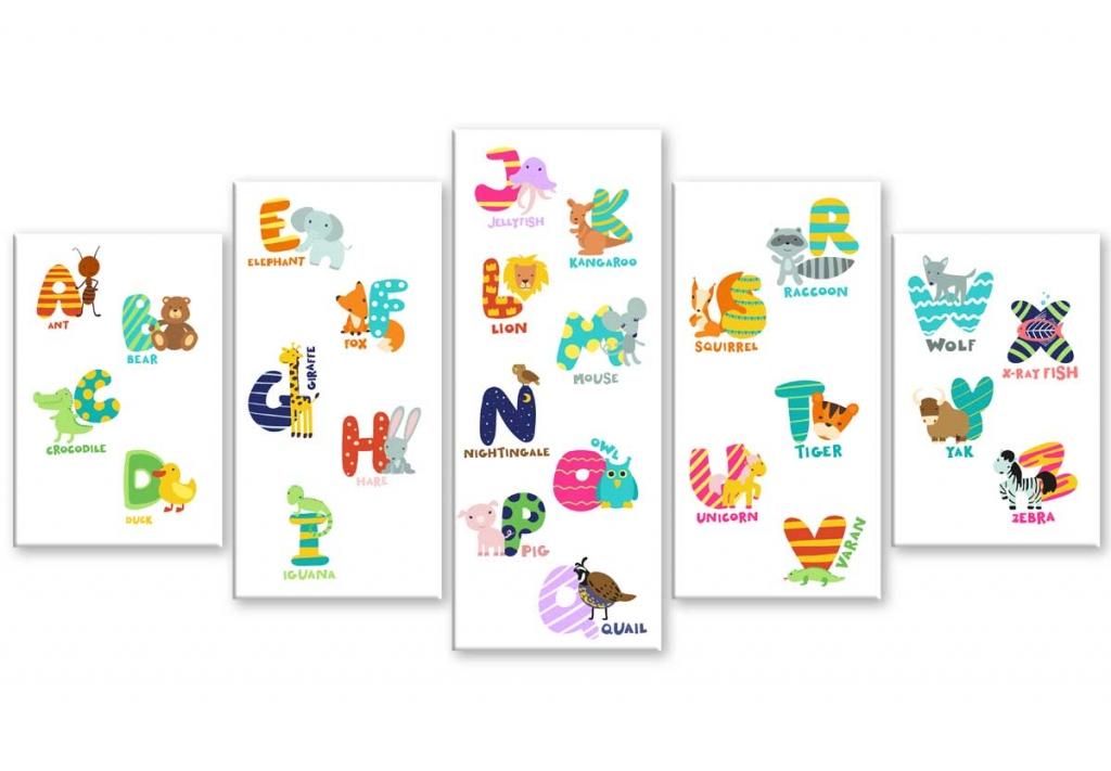 Dětský obraz angličtina pro děti, 100x50 cm