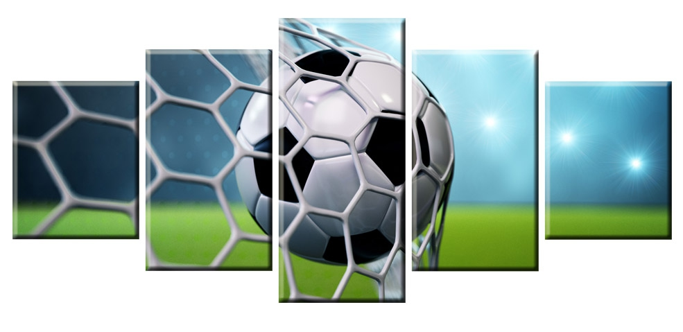 Dětský obraz Fotbal, 150x70 cm