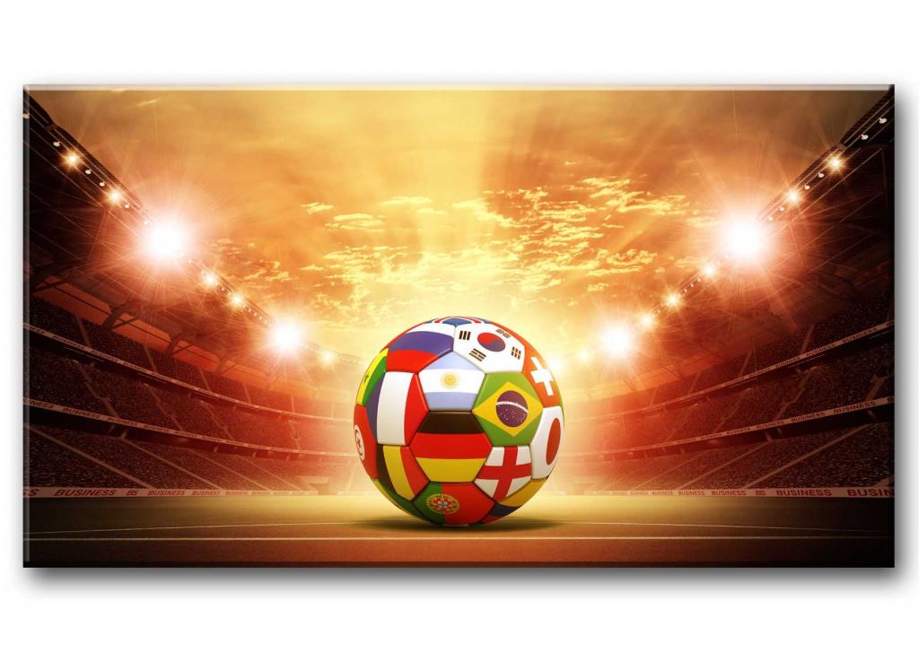 Dětský obraz Fotbalový míč, 150x80 cm
