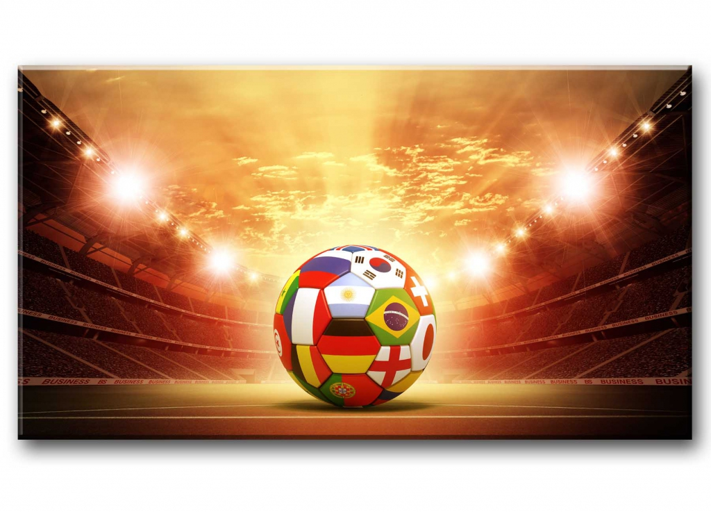 Dětský obraz Fotbalový míč, 80x45 cm