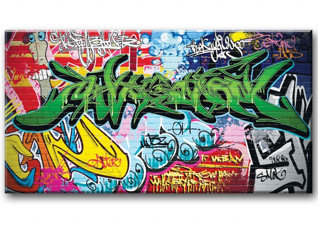 Dětský obraz Graffiti, 150x80 cm