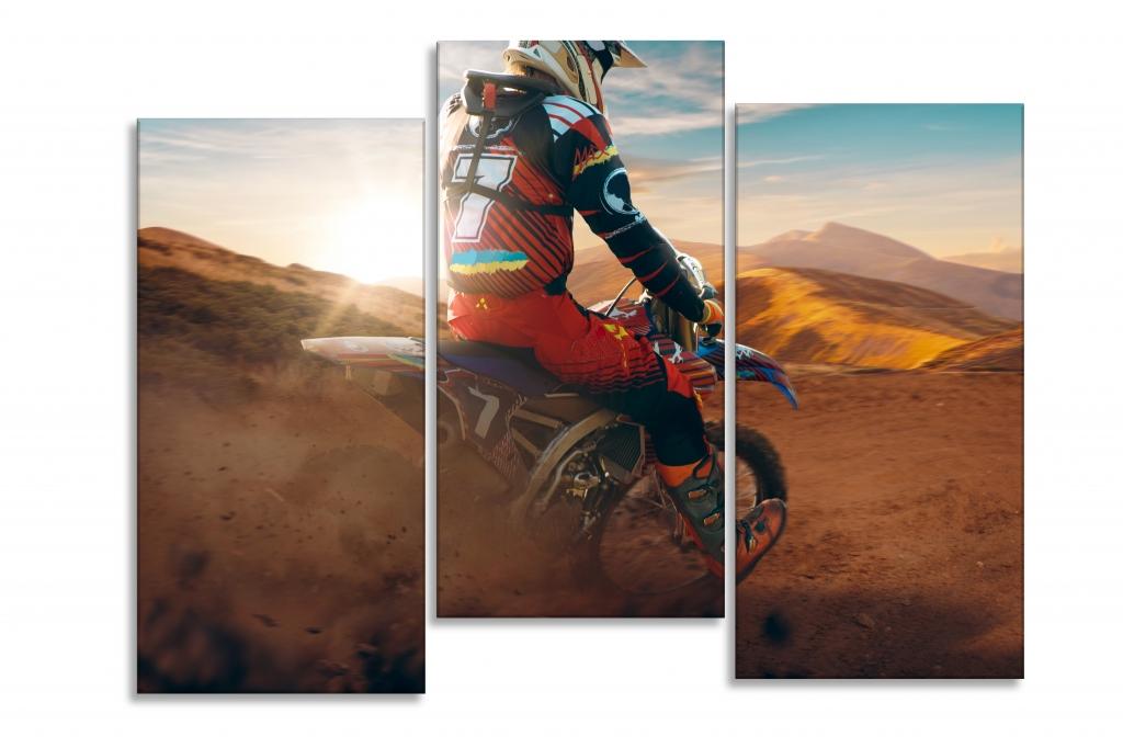 Dětský obraz Motokrosová poušť, 90x60 cm