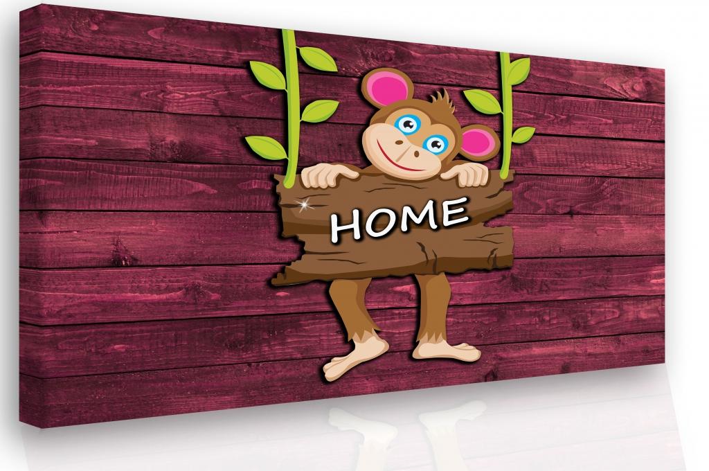 Dětský obraz Opička, 60x40 cm
