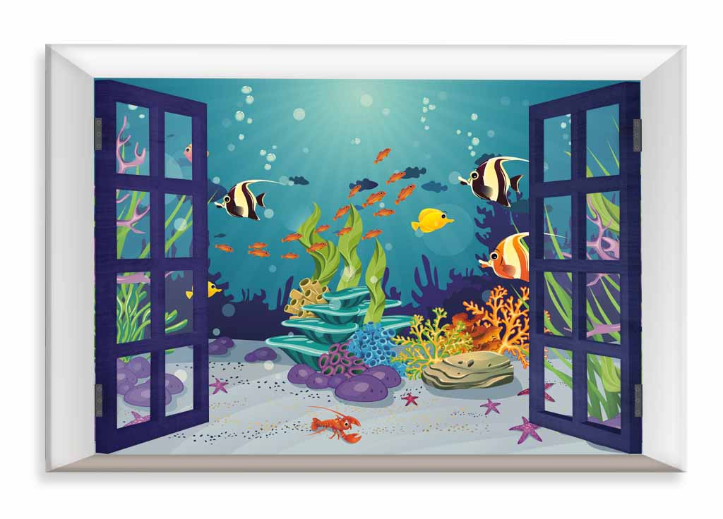 Dětský obraz Podmořský svět, 90x60 cm
