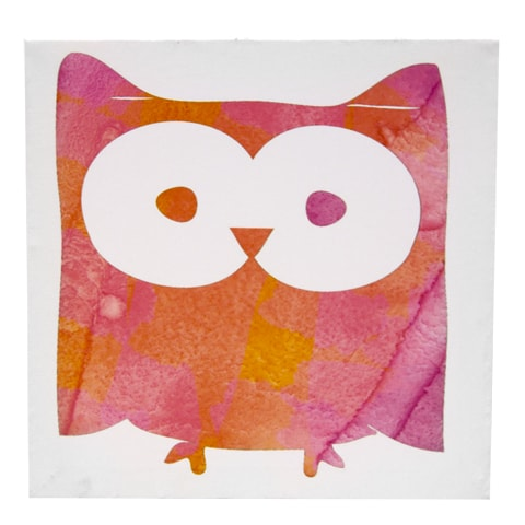 Dětský obraz se sovou Oggla, 30x30 cm