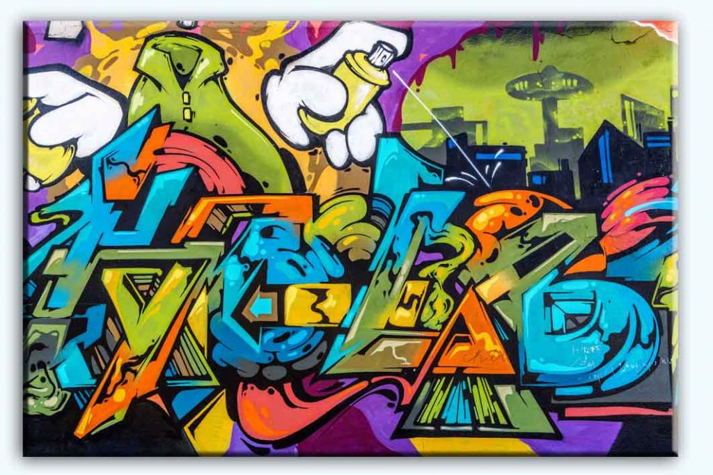 Dětský obraz Street art, 90x60 cm