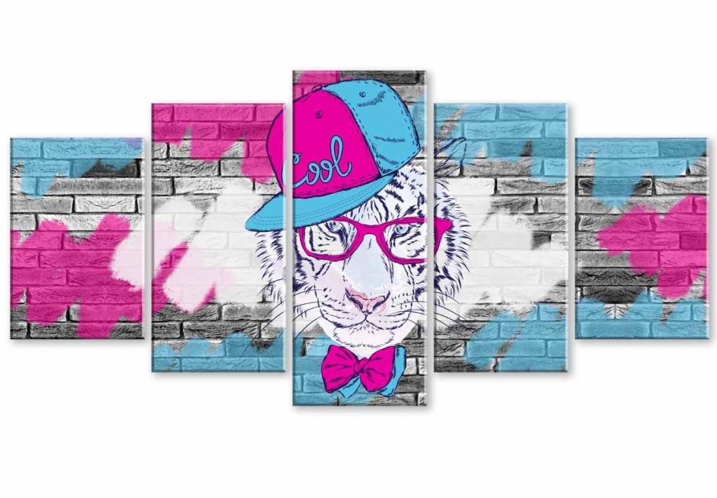 Dětský obraz tygří street, 100x50 cm