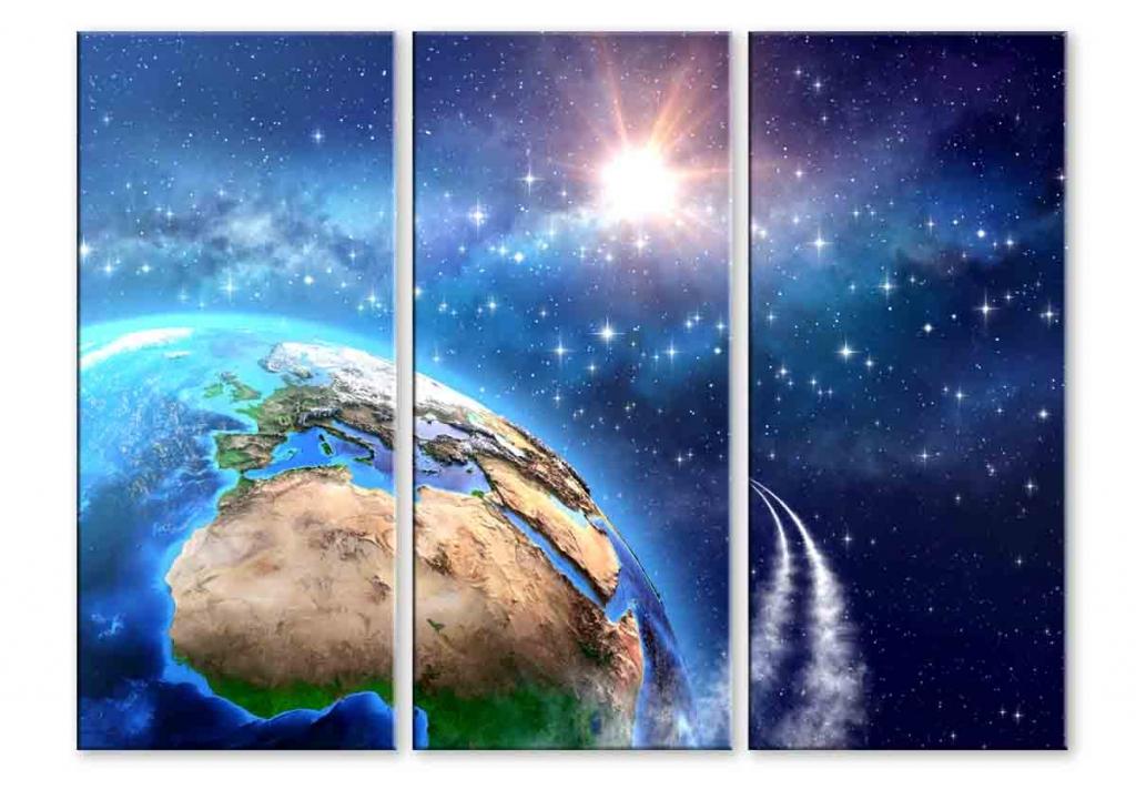 Dětský obraz vesmírná mise, 90x70 cm