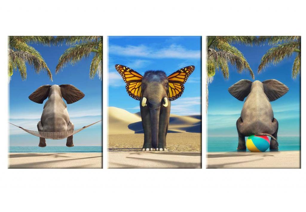 Dětský obraz vtipný slon, 90x40 cm