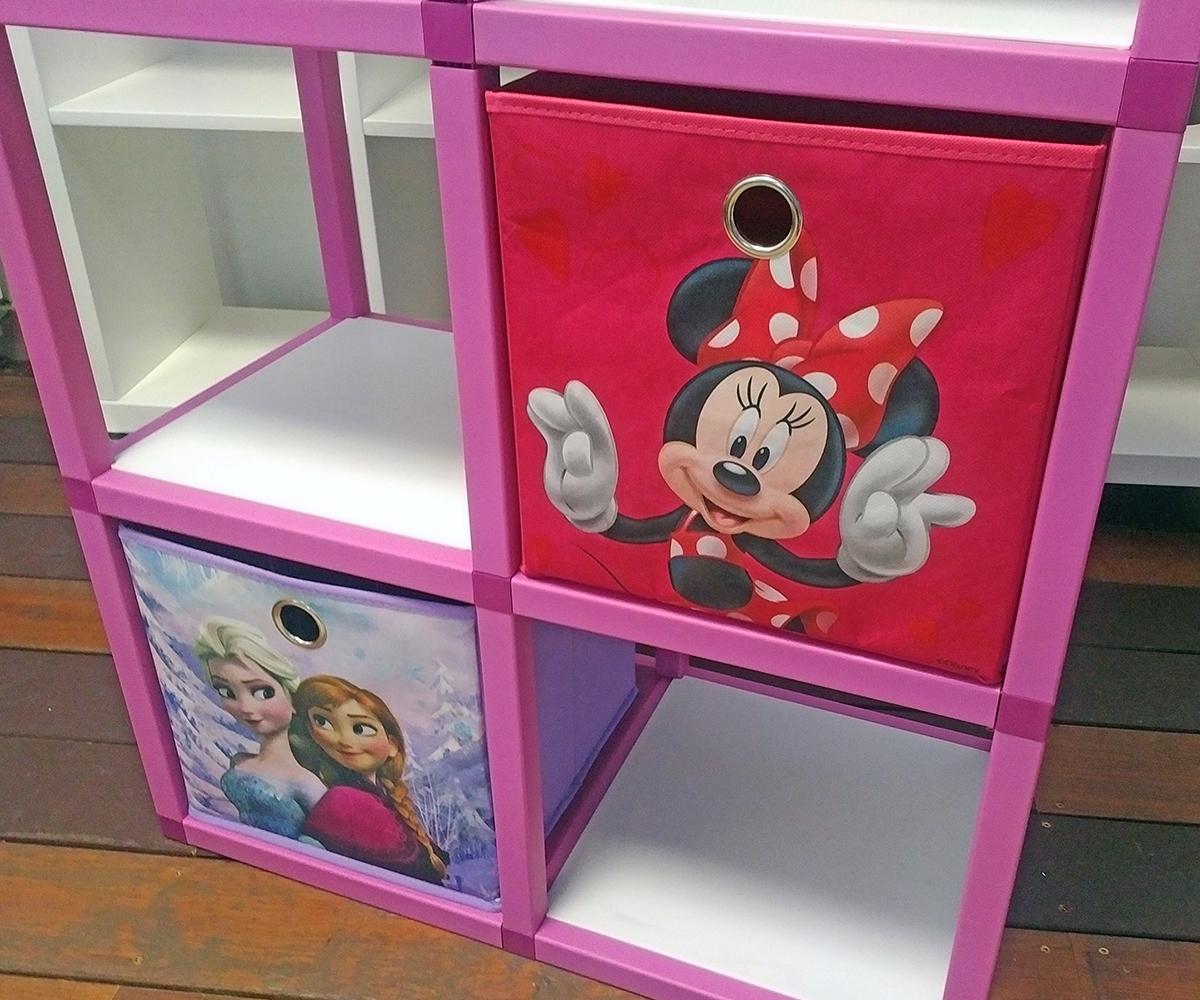 66735f64b001 ... Detský regál MODlife 6 + 2 úložné boxy Minnie Mouse C a Frozen A - 2 ...
