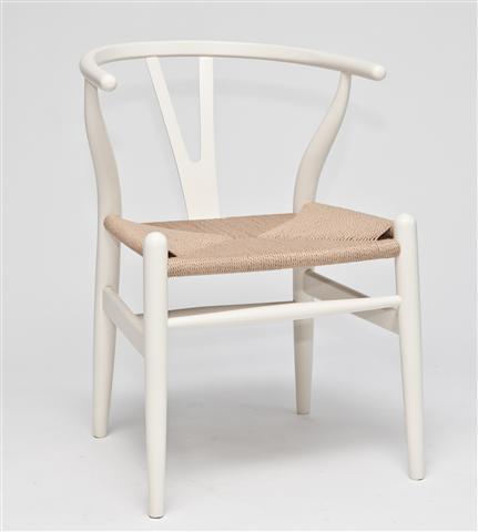 Dřevěná židle Vidja, bílá