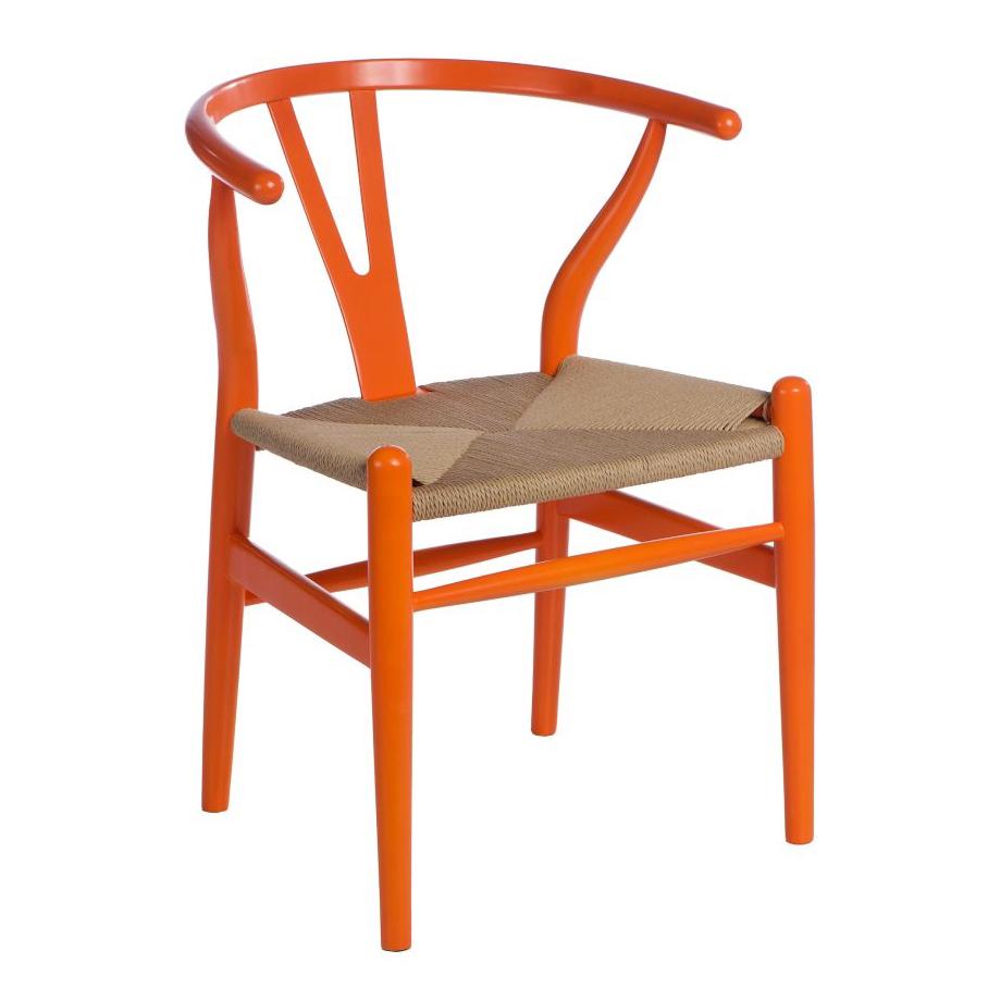 Dřevěná židle Vidja, oranžová