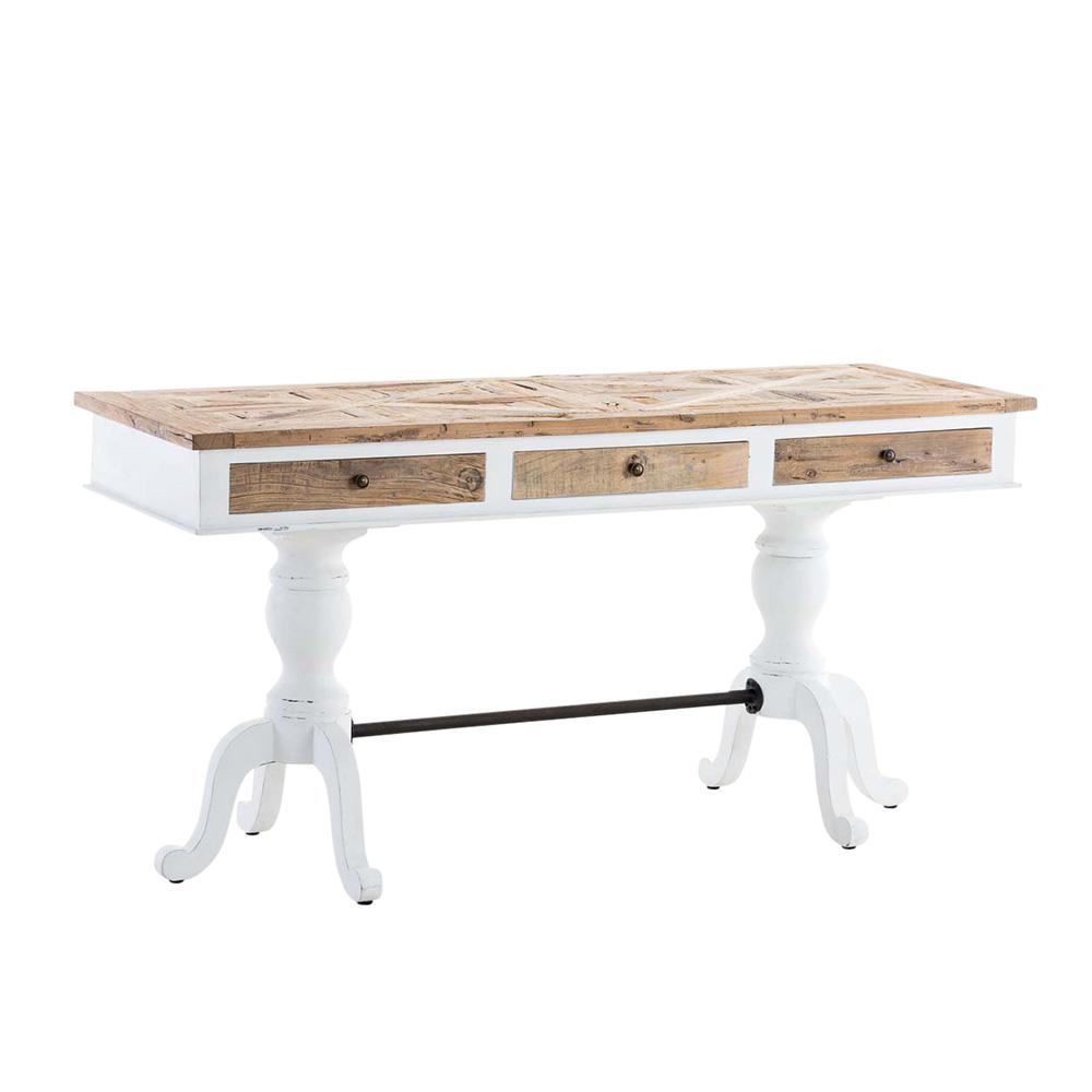 Dřevěný psací stůl se zásuvkami Loco, 160 cm