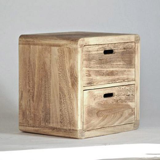 Konferenční Stolek Noční Stolek Dřevěný Retro Cube S 2