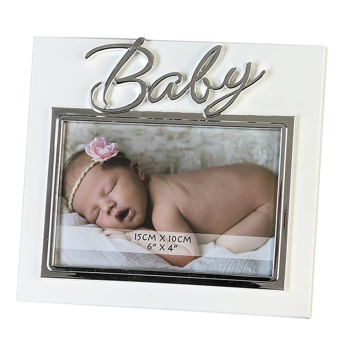 Fotorámeček Baby, 19,5 cm, stříbrná