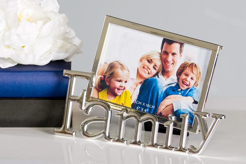 Fotorámeček Family, 23 cm, stříbrná