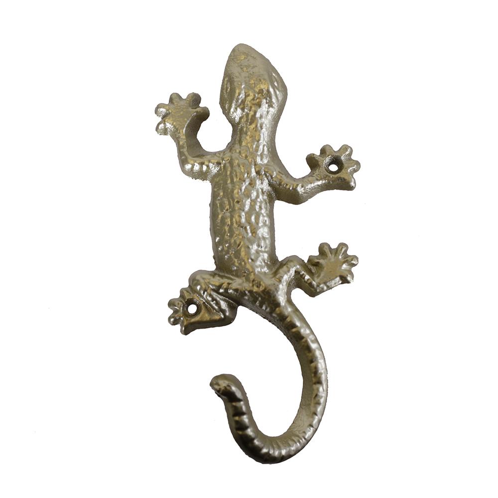 Háček na šaty Ještěrka, 17 cm, zlatá