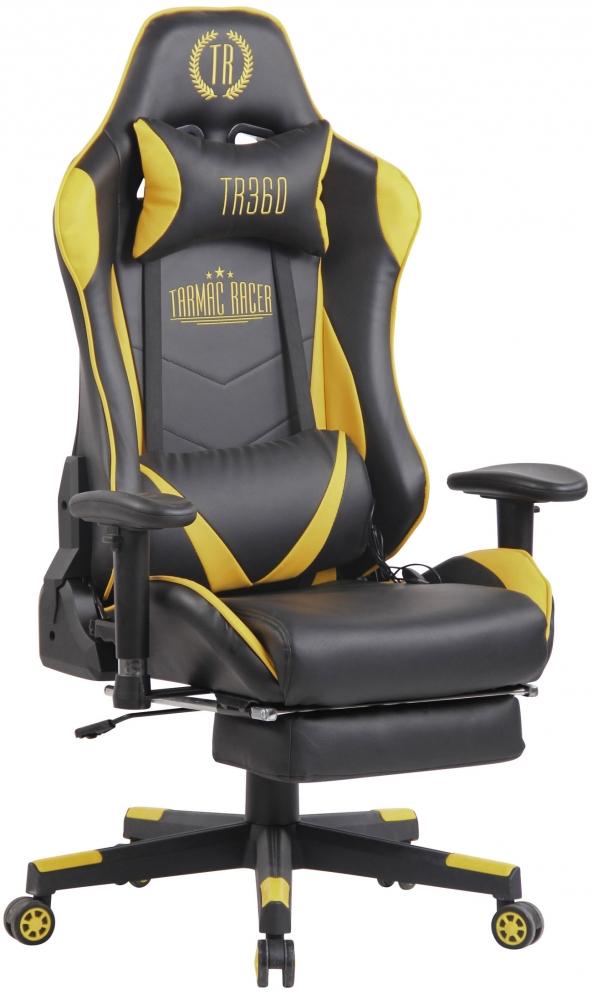 Herní křeslo Lux, černá / žlutá