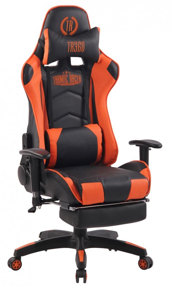 Herní křeslo Turbo, černá / oranžová