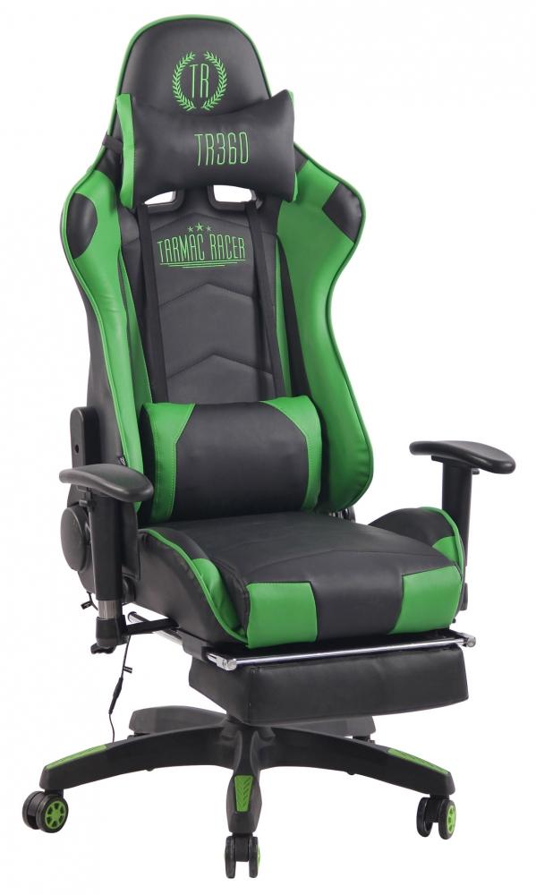 Herní křeslo Turbo, černá / zelená
