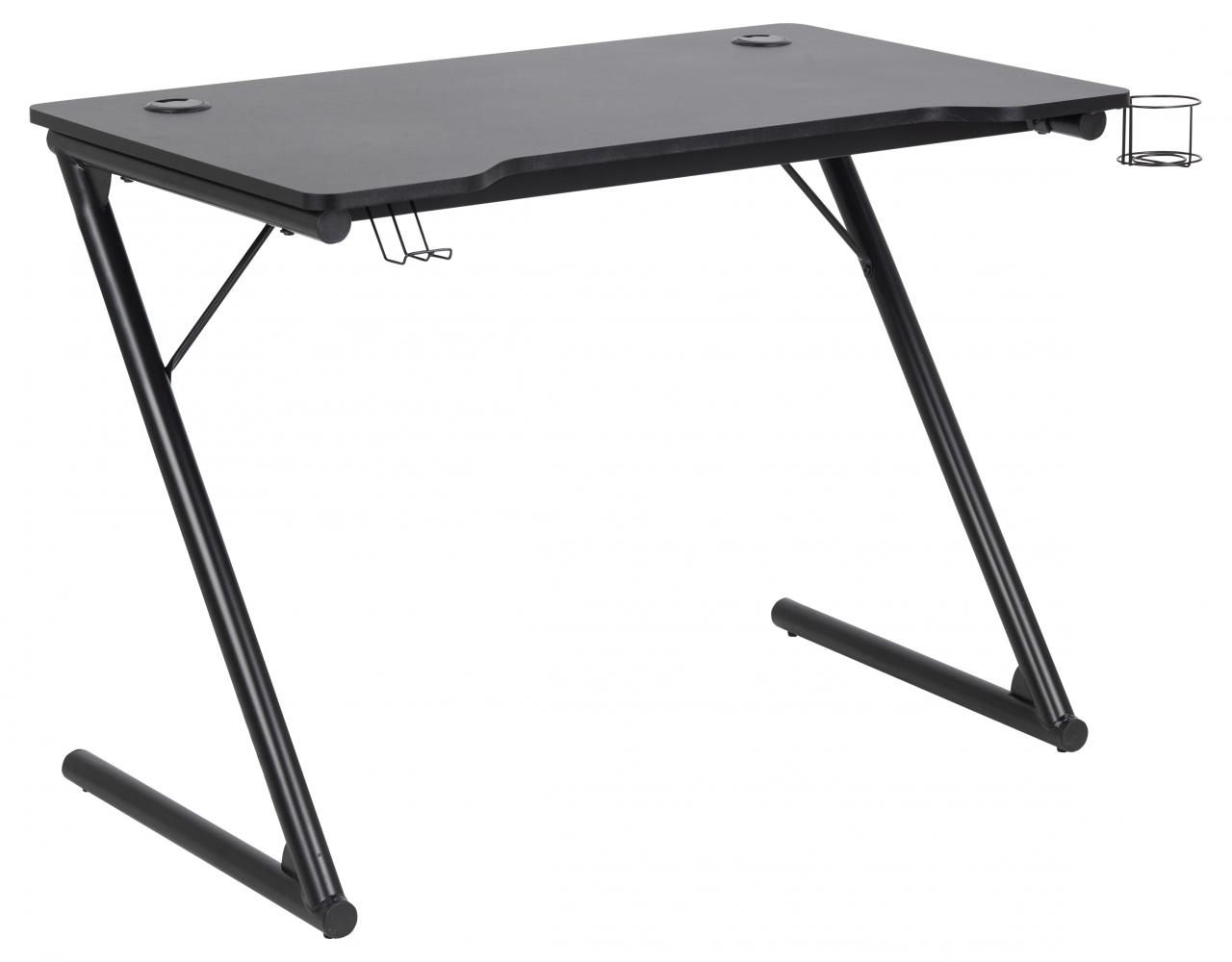 Herní stůl Trooper, 100 cm, černá