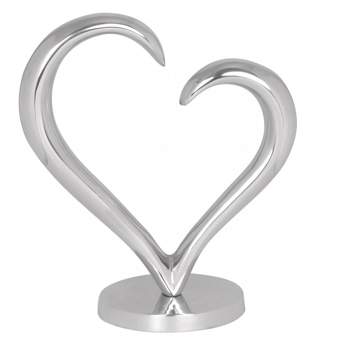 Hliníková dekorace ve tvaru srdce Amour, 35 cm
