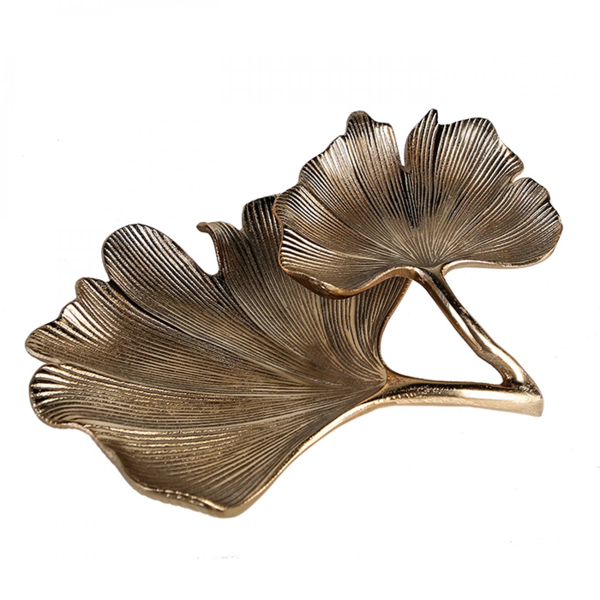 Hliníková mísa Ginkgo, 33 cm, zlatá