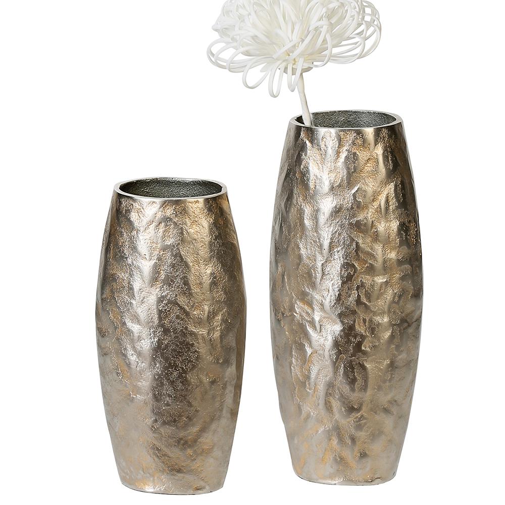 Hliníková váza Dents, 28 cm